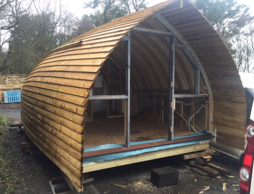 Langley Glamping project is taking shape…