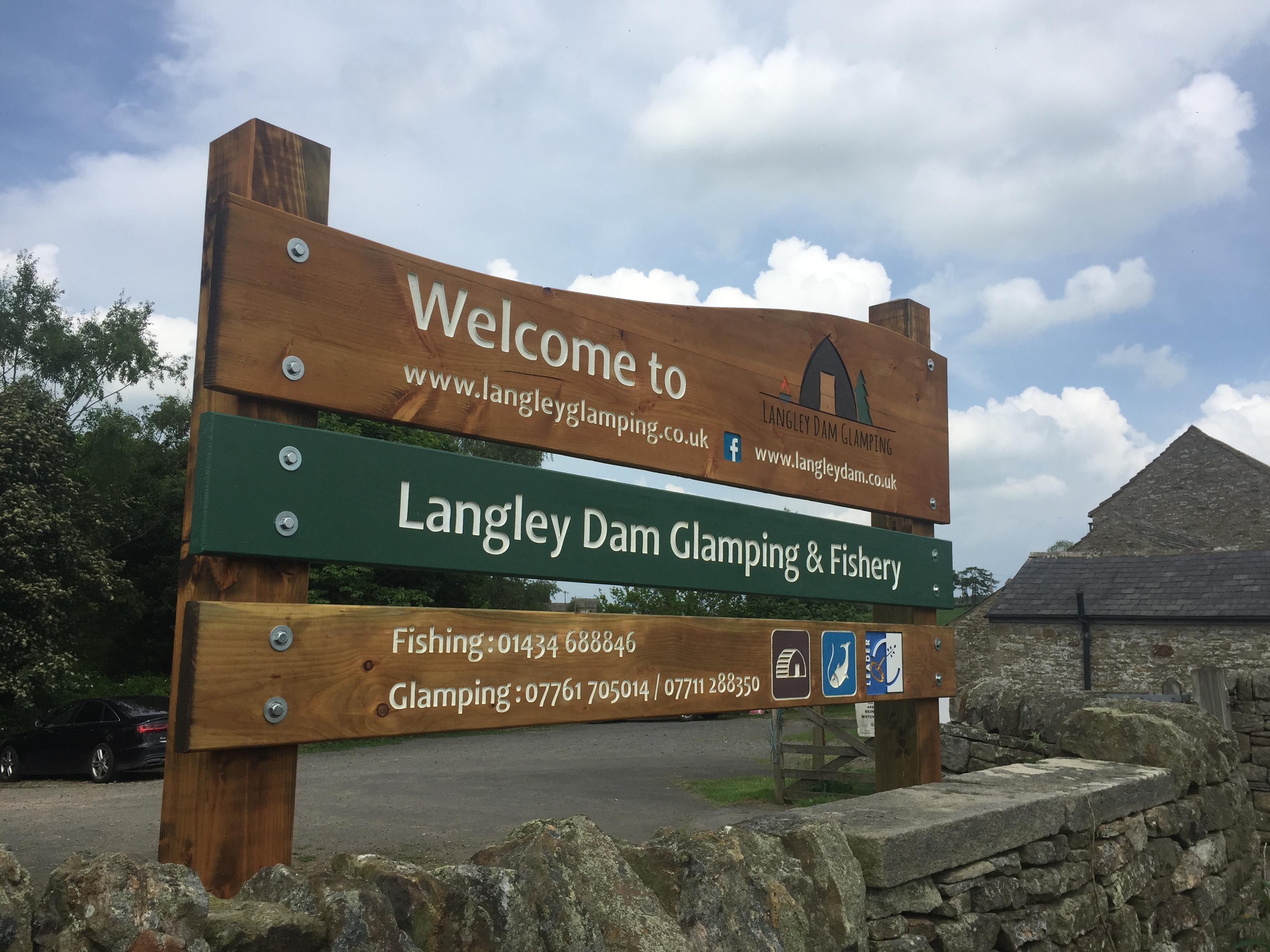Langley Dam Glamping Sign