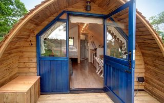 The view into Blackcleugh glamping cabin