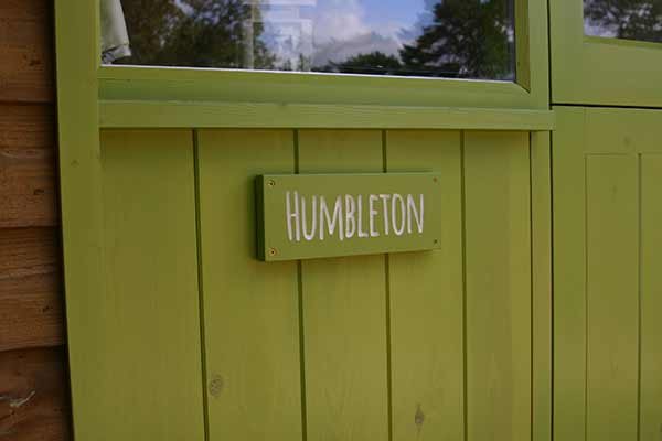 The Humbledon Door Sign